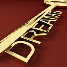 Dreams Key Representing Hopes And Visions
